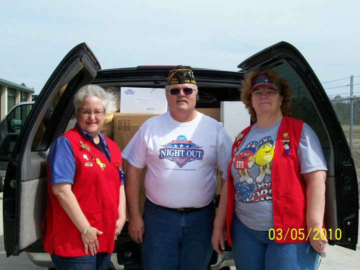 Click on Photo to view Gallery - Joyce Fuller, Everett Ison and Judy Brawner donating to the Fisher House on behalf of the VFW Post and Auxiliary 12024