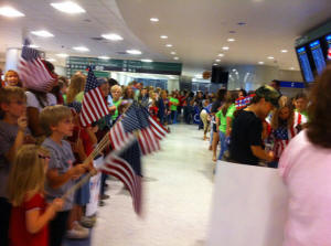 Click on Photo to view Gallery - Wounded Warriors Welcome Home May 2011